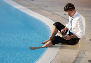 working-at-the-pool